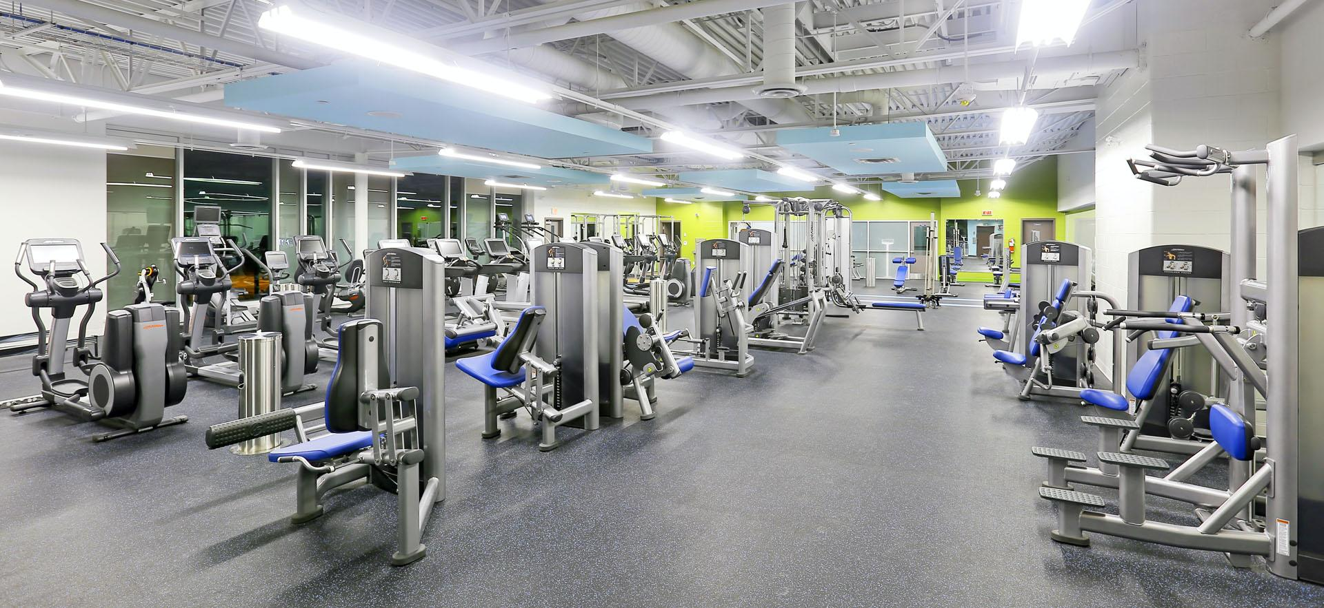 View of entire fitness centre